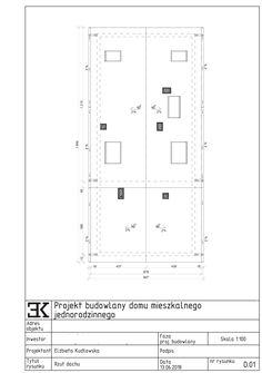 dach dwuspadowy, kąt 40 stopni, dachówka, kierunek odpływu wody, rynny, okna dachowe, kominy / Крыша вид сверху, 40 градусов, мансардные окна Residential Architecture, Lockers, Locker Storage, Home Decor, Projects, Interior Design, Cabinets, Home Interiors, Decoration Home