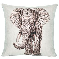 WARM TOUR 2017 NEW Pillow Case Oil Print India Elephant Pillow Case Cotton Linen Chair Seat and Waist
