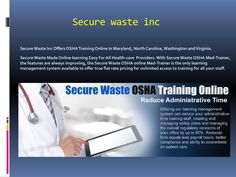 Osha Training Online In Maryland