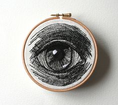 Hand Embroidered Eye Illustrations by Sam P. Gibson ilustracion y bordado Embroidery Hoop Art, Cross Stitch Embroidery, Embroidery Patterns, Portrait Embroidery, Etsy Embroidery, Embroidery Monogram, Learn Embroidery, Eye Illustration, Diy Broderie