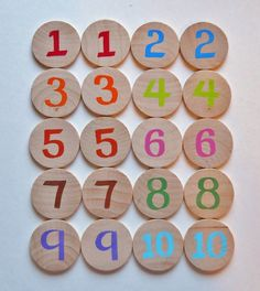 Memory Game Numbers and Colors Waldorf toy Game by 2HeartsDesire, $12.00 Hand Crafted In The U.S.A. Handmade Wooden Toys, Wooden Crafts, Diy And Crafts, Crafts For Kids, Montessori Activities, Toddler Activities, Fun Activities, Waldorf Toys, Precious Children