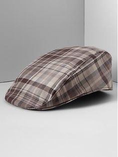 Plaid Driving Cap