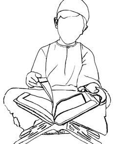 """""""Coloriage d'un garçon lisant le Coran disponible sur le site oummi colors #muslimkids#muslimcrafts"""" 4 Kids, Cool Kids, Activies For Kids, Ramadan Crafts, Arabic Lessons, Islam For Kids, Islamic Studies, Coloring Pages For Kids, Kids Colouring"""