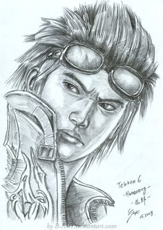 Old sketch from 2008. It's Hwoarang from Tekken series. For optimal view, click full size. Time used: 3 hours Enjoy