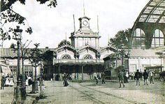 Oude Centraal Station voor de afbraak, 1898