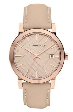Nude  Gold watch by Burberry