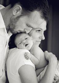 Newborn family photo.