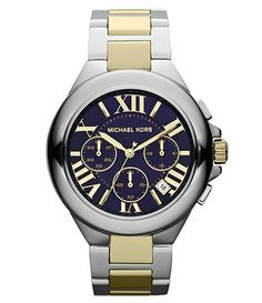 Michael Kors Camille Blue Dial Chronograph Watch Available at Dillards.com #Dillards