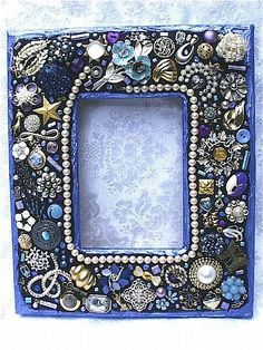 mosaic picture frame | Periwinkle Jewelry Mosaic Frame (Available) - by Laura Winzeler from ...