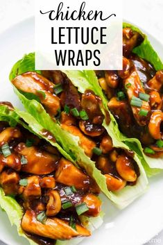 Healthy Meals EASY Cashew Chicken Lettuce Wraps - This delicious recipe tastes better than take out and is done in 20 minutes. A flavorful one pot dish that the whole family will love! Clean Eating Snacks, Healthy Eating, Healthy Food, Asian Recipes, Healthy Recipes, Recipes For Two, Easy Delicious Recipes, Gluten Free Recipes, Tasty