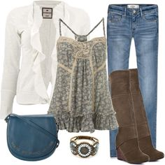 """Vintage Blue"" by debbie-probst on Polyvore"