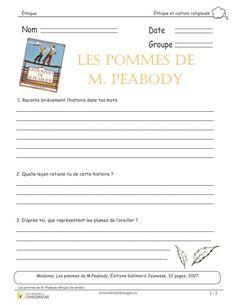 Ce court exercice doit être effectué après avoir fait la lecture de l'album ''Les pommes de M. Peabody'', de Madonna. Vous pourrez alors parler de l'amitié, de l'acceptation des autres, du rejet et des relations interpersonnelles dans un groupe et des rumeurs. Vous pourrez également compléter le tout avec un art plastique à réaliser et une appréciation d'une image du livre. Ce document comprend 2 pages. 2e cycle,3e année,3e cycle,4e année,5e année,6e année,acceptation,amitité,Caroline… Rejet, Fractions, Art Plastique, Art Activities, Madonna, Projects To Try, Classroom, Teacher, Album
