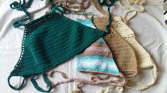 100% Handmade Knit Top Swimsuit Cotton
