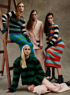 the fall: alice gilbert, maddie demaine, roxy just and natalie feltham by david roemer for marie claire uk september 2016   visual optimism; fashion editorials, shows, campaigns & more!