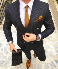 Outfits for men @ gentlemens.crate #mensfashion #menswear #suit Dapper Men, Best Clothes For Men, Best Suits For Men, Suits For Boys, Suit Styles For Men, Trendy Suits For Men, Suit For Men, Mens Clothing Styles, Stylish Men
