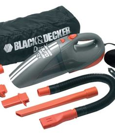 Black & Decker 12V DC Cyclonic Car Vacuum Cleaner with Accessories