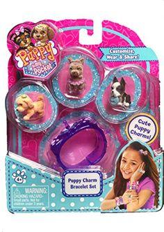 NEW 2015 Puppy in My Pocket Puppy Charm Bracelet PURPLE with 3 Tiny Puppies (Golden Retriever, Cairn Terrier, Boston Terrier) Puppy In My Pocket http://smile.amazon.com/dp/B01314ERXC/ref=cm_sw_r_pi_dp_a09swb05CN1AV