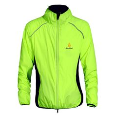 WOSAWE Cycling Windbreaker Cycling Wind jacket For Women and Men s  Fluorescent Green Black White Yellow Orange Waterproof And Windproof Also  Sunscreen Four ... 094cc989a