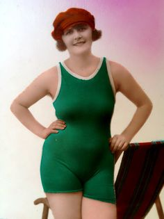 Sassy Sally the Bathing Beauty // 1920s swimmer by HerEverAfter