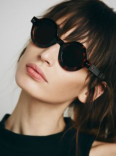 Free People Hepburn Round Sunglass at Free People Clothing Boutique