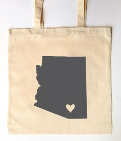 We Heart Arizona Wedding Tote - Wedding Favor Tote Bags for Guests on Etsy, $36.00