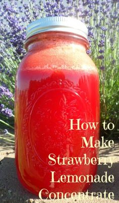 How to make fresh strawberry lemonade concentrate now to enjoy all winter.