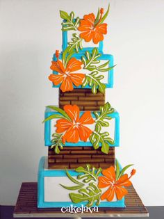 ImagineToursNH Destination Wedding Sandals All Inclusive Hibiscus Wedding Cake Gorgeous Cakes, Pretty Cakes, Amazing Cakes, Fondant Cakes, Cupcake Cakes, Cupcake Ideas, Hibiscus Wedding, Hibiscus Cake, Hibiscus Leaves