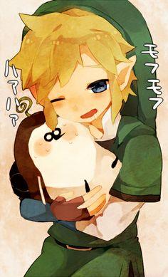 Chibis young Link and tikwi, from The Legend of Zelda #Skyward_Sword | #Wii #WiiU