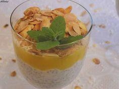 Kokosowy deser chia z mango