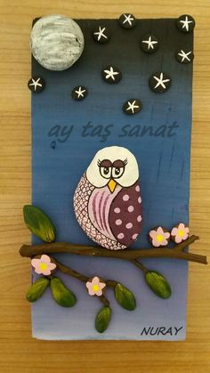 Pebble Painting, Pebble Art, Stone Painting, Stone Crafts, Rock Crafts, Rock Painting Ideas Easy, Stone Pictures, Rock Design, Shell Crafts