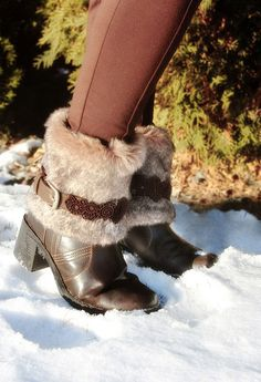 No sewing required... Fur boot covers by Urban Threads, via Flickr