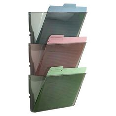 Wall Mount Hanging File Sorter Organizer Folder Holder