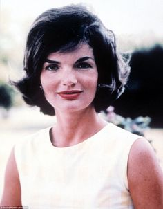 Jackie Kennedy in 1961 when she was America's style icon and its very popular First Lady. Just two years later she would be left a widow