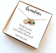 Gift for Grandma/ Family Tree Necklace/ by vintagestampjewels