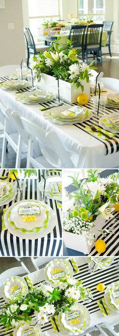 Learn how to host a SALAD SOCIAL for your church groups, neighbors, family or friends. The perfect potluck for a large group of people. Lemonade Stand Sign, Green Tablecloth, Lemon Party, Basketball Party, Ladies Luncheon, Virtual Baby Shower, Baby Shower Balloons, Host A Party, Tea Party