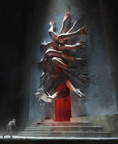 Risultati immagini per fantasy art creepy door Dark Fantasy Art, Fantasy Artwork, Fantasy Kunst, Fantasy World, Dark Art, Arte Horror, Horror Art, Cthulhu, Arte Obscura