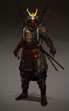 Samurai , Evgeniy Petlya on ArtStation at https://www.artstation.com/artwork/ReeaX
