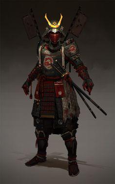 Samurai , Evgeniy Petlya on ArtStation at https://www.artstation.com/artwork/ReeaX