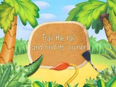 Trail the tail (educational and fun safari app for kids) - a set of 12 interactive scenes featuring a variety of fun animals. Appysmarts score: 91/100
