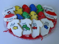 Dr. Suess One Fish New Fish Cookies for Baby Shower