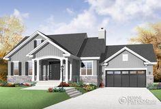 Plan modèle maison - Maisons Laprise - Maisons pré-usinées - Modèle #W3236-V1