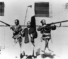 Chinese Catholics prepared to defend their church from the Boxers. Boxer Rebellion, 1899.