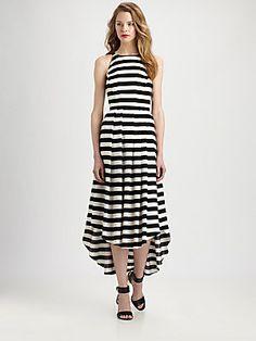 Fashion Star Stripe Dress by Hunter Bell Saks $270