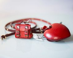 Sale 40 % off. Heart Leather Pouch. Leather by secondstudio
