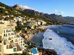 White, sandy shores of Clifton, Cape Town.