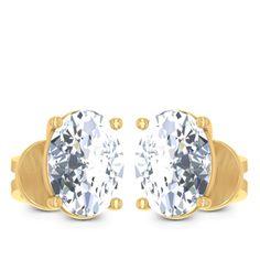 Moon Solitaire Earring Diamond Solitaire Earrings, Cuff Bracelets, Moon, Jewels, The Moon, Jewerly, Gemstones, Fine Jewelry, Gem