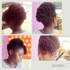 Senegalese twist updo # natural hair