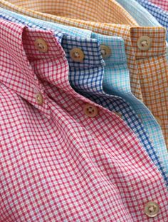 Gingham. Good basic for every man to have. were tucked in for business casual or untucked with dark jeans for late dinner date