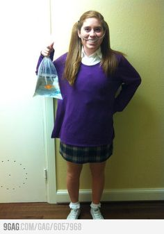 "That's a great costume!! ""Fish in my heeaadd"""