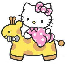 Hello kitty riding a giraffe! Sanrio Hello Kitty, Hello Kitty Art, Hello Kitty Baby Shower, Hello Kitty Birthday, Baby Kitty, Hello Kitty Backgrounds, Hello Kitty Wallpaper, Little Twin Stars, Images Hello Kitty